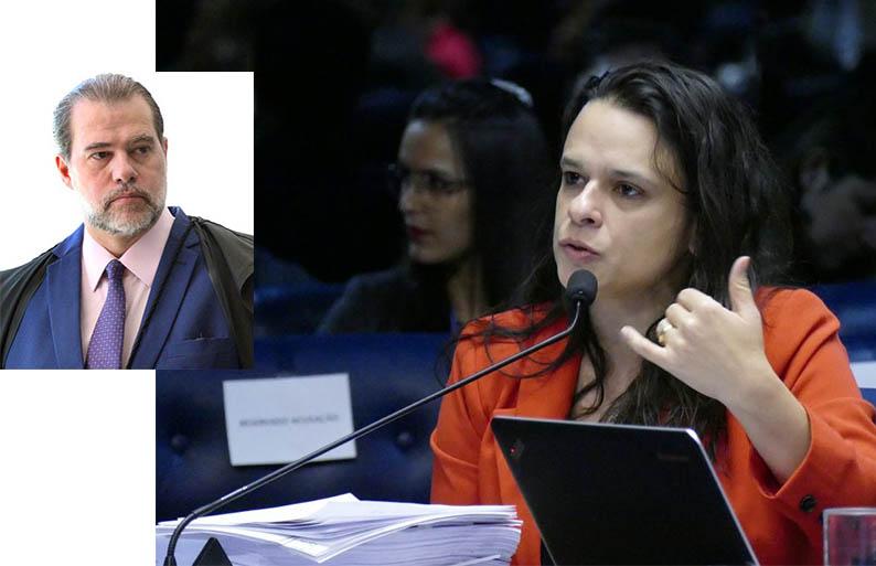 """Resultado de imagem para Janaina Paschoal entra com pedido de impeachment de Toffoli: """"Decisão criminosa"""""""