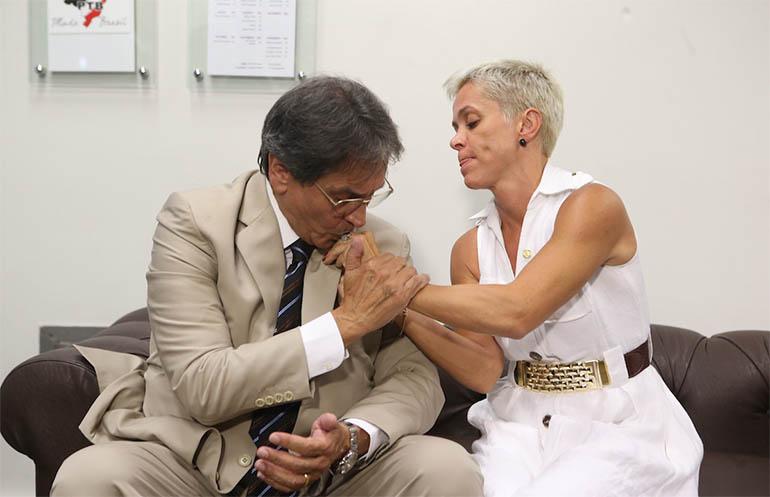 Resultado de imagem para Sarney e Cristiane Brasil ministerio do Trabalho